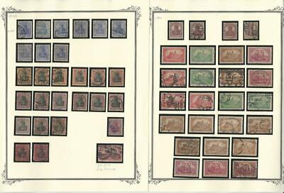 Germany Stamp Collection, 10 Pages German Area Lot, Cancels, Bavaria