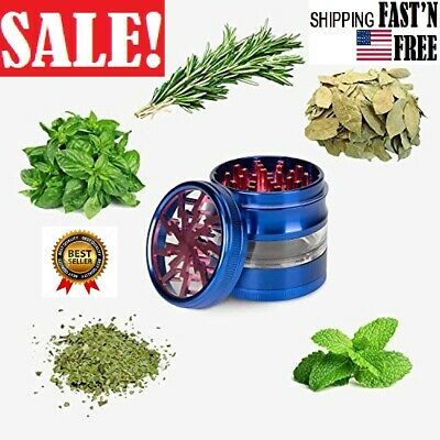 Metal Black Aluminum Crusher 2.5 Inch 4 Piece Tobacco Spice Dry Herb Grinder US