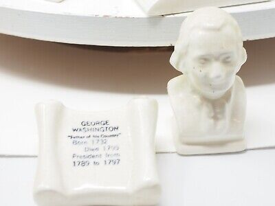 George Washington Souvenir Parkcraft Salt and Pepper Shaker Set Vintage