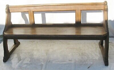 A Victorian pine Gothic revival Church Pew