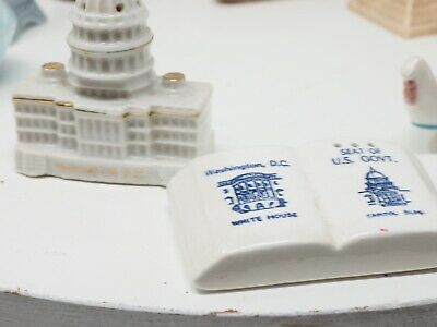 Washington D.C. Capital Souvenir Parkcraft Salt Pepper Shaker Set Vintage