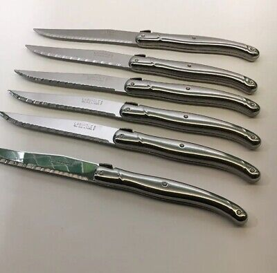 Laguiole Six Stainless Steel Steak Knives. These Are Genuine High Quality .