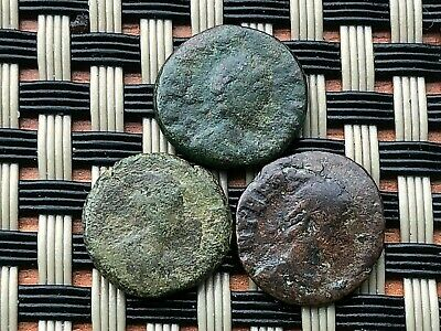 Lot Of 3 Ancient Roman Imperial Bronze Coins Ae4 In Nice Quality