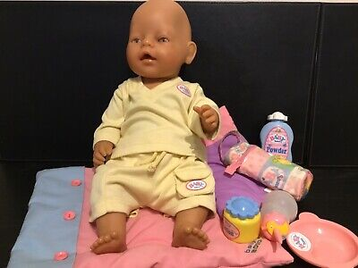Zapf Creation Late 1990s Baby Born Doll With Set Of Clothes And Accessories