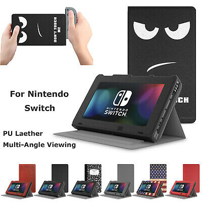 Moko Leather Slim Fold Flip Stand Case Full Protection Cover for Nintendo Switch