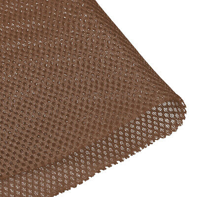 Speaker Grill Cloth 1x1.45 M 39x57 Inch Polyester Fiber Stereo Mesh Fabric Brown