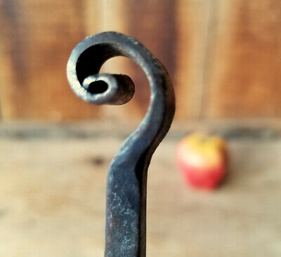 Long Handled Toasting Fork c.1750 Antique Primitive Hand Forged Wrought Iron