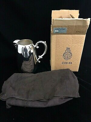 """Wm Rogers Silver Plated Water Pitcher Ice Guard 8"""" Tall with Original Box"""