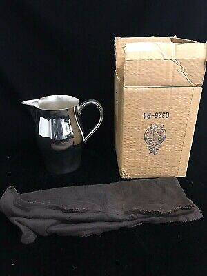 WM Rogers Paul Revere Reproduction Silverplate Water Pitcher with Original Box