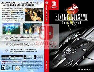 Final Fantasy VIII / 8 - Custom Cover for Nintendo Switch (case included)
