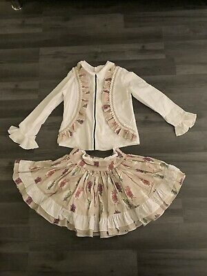 Girls Spanish Abuela Tata Outfit Age 8 Years Great Condition