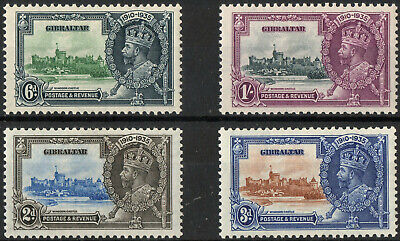 Commonwealth Gibraltar 1935 KGV Silver Jubilee set of 4 mint stamps  Mint Hinged