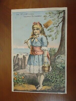 ANTIQUE DR. J.H. McLEAN'S VOLCANIC OIL LINIMENT VICTORIAN TRADE CARD