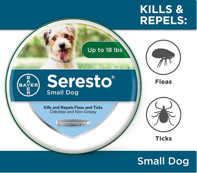 NEW Seresto Flea Tick Collar for Dogs 8-Month Tick Control for Dogs Up to 18 lbs