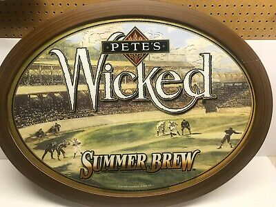 Pete's Wicked Summer Brew Large Oval Beer Sign Man Cave Item.