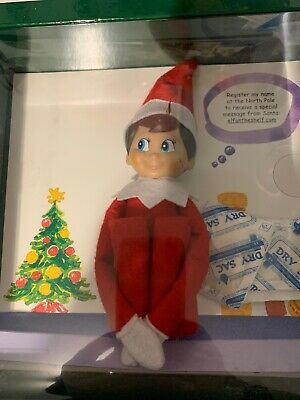 New In Box - Elf on the Shelf BOY - Elf Doll and Storybook Blue Eyed