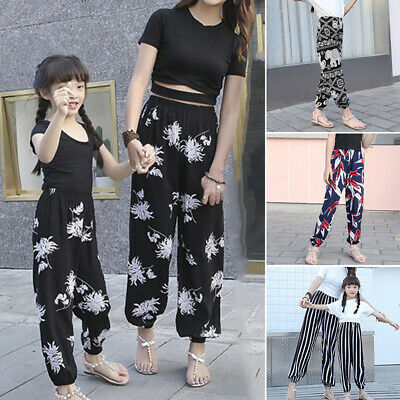 Kids Pants Girls Trousers Toddlers Summer Thin Casual Pants Trousers Baggy