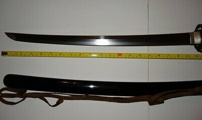 antique Japanese short sword wakizashi signed Kunitsugu