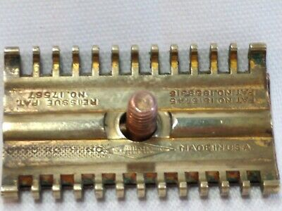 Vintage Gillette Safety Razor 1930s Rare Stamped over Otto Roth Inc plus Blades