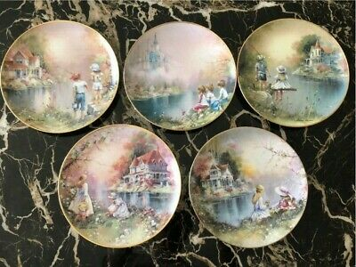 Franklin Mint Collector Plates Signed 24ct Gold Number W/ Certifications