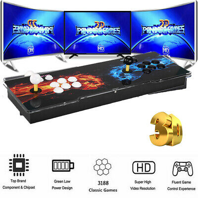 3188 in 1 Games 4Players Retro Arcade Console LCD For Projector TV