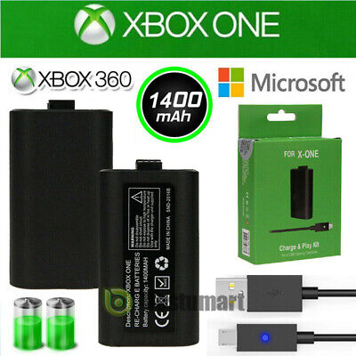 1x Rechargeable Li-ion Battery Pack&Charge Kit for Microsoft Xbox One X Play New