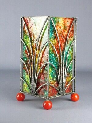 Lovely Texture Iron & Mosaic Glass for Lamp or Lantern