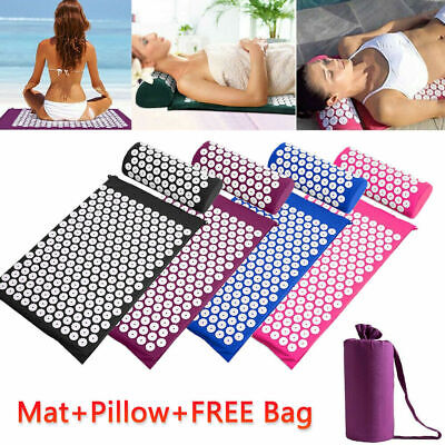 Massage Acupressure Mat Yoga Shakti Sit Lying Mats Cut Pain Stress Soreness AU
