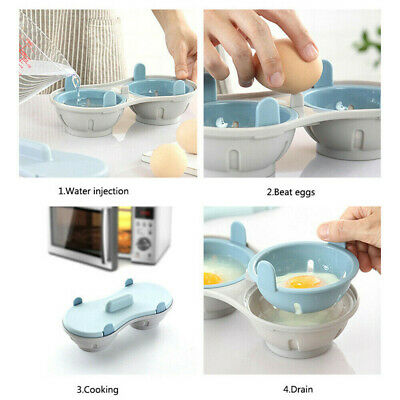 NIP Discovery Double Cavity Microwave Egg Poacher//Cooker