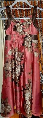 Monsoon floral girls dress age 8-9 years