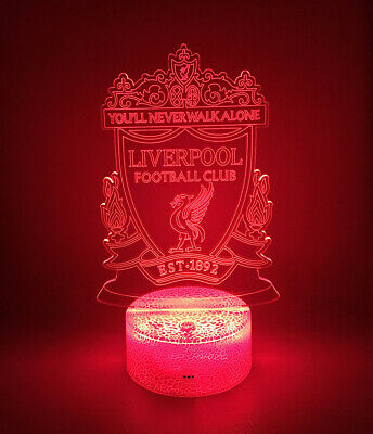 Liverpool FC 3D Acrylic LED Light Touch Table Lamp with remote control  2019