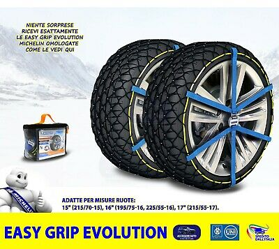 Catene da Neve Power Grip 9mm Gruppo 100 per gomme 215//70r15 Dodge Caravan 2001