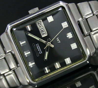 Seiko Lord Matic (LM) Automatic Day Date Steel Mens Wrist Watch