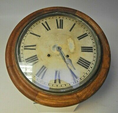 Very Large Ansonia USA Chiming Oak Wall Clock, for restoration