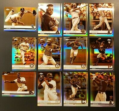 2019 Topps Chrome Sepia Refractor Lot of (12): Ohtani, Rookies, and more!