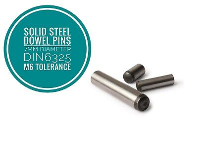 Metric Hardened and Ground Steel Dowel Pins DIN6325 7mm Diameter 25pcs