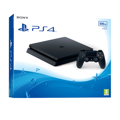 Sony PlayStation 4 PS4 500GB Black with 12months PS+ Subscription-Latest Version