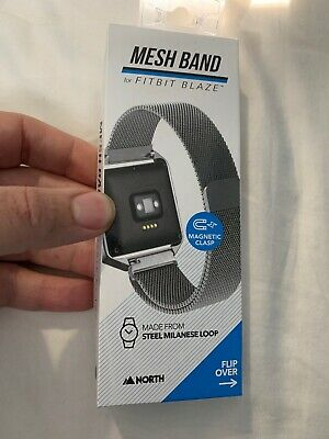 North Mesh Band for Fitbit Blaze Activity Tracker Steel Milanese Loop