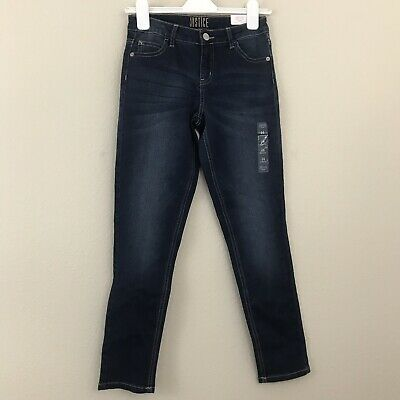 Justice Girls 14 Jeans Super Skinny Blue Mid Rise Soft Stretchy New
