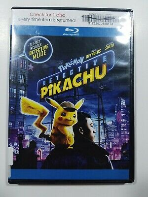 Pokémon Detective Pikachu, 2019, PG, Action Comedy, Bluray Movie, Like New