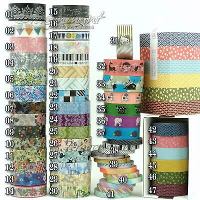 Paper Washi Masking Tape Adhesive Roll Decorative Card Craft Trim Simple Colour