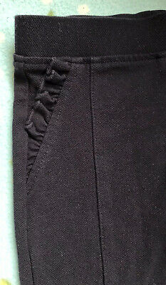 Girls Smart Navy Blue Leggins With Frill Pockets Age 6 Years From NEXT