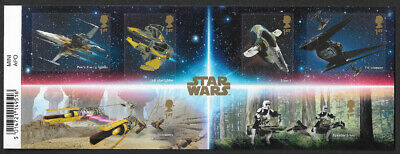 GB 2019 Star Wars Vehicles u/m mnh 1st class stamp miniature sheet with barcode