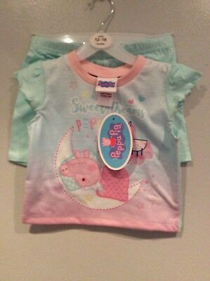 New With Tags Girls Peppa Pig Shorty Pyjamas Age 18/23 Months