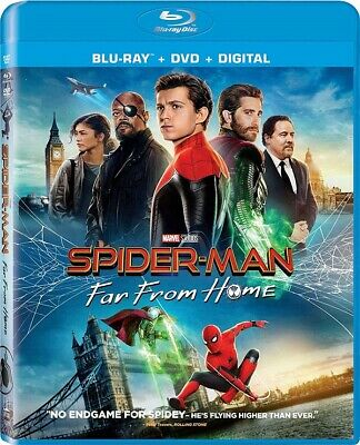 "Spider-Man: Far From Home - Blu-ray + DVD + Digital w/Slipcover ""SEALED"""