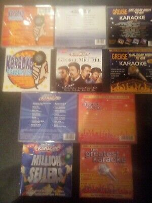 5 Karaoke cd's for sale no longer required no problems or issues with them