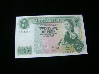 Mauritius 1967 25 Rupees Banknote Gem Unc. Pick#32b Nice!!