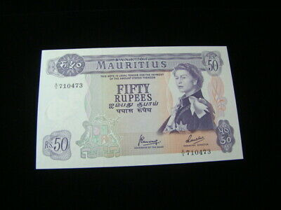 Mauritius 1967 50 Rupees Banknote Gem Unc. Pick#33c Very Nice!!