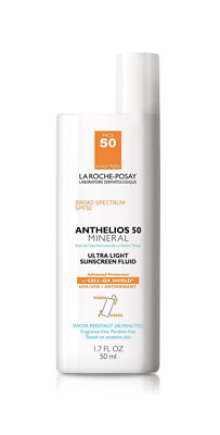 La Roche Posay Anthelios 50 Mineral Ultra Light Sunscreen Fluid 1.7 oz Exp 08/20