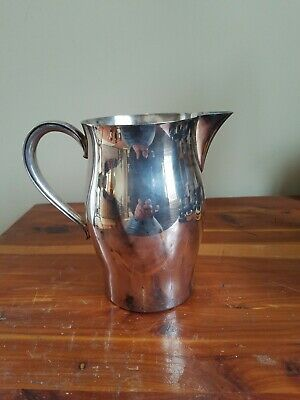 "Vintage WM ROGERS PAUL REVERE REPRODUCTION PItcher 7.5"" Tall 64 oz Silver Plate"